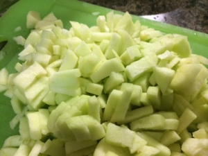 Apple cut up